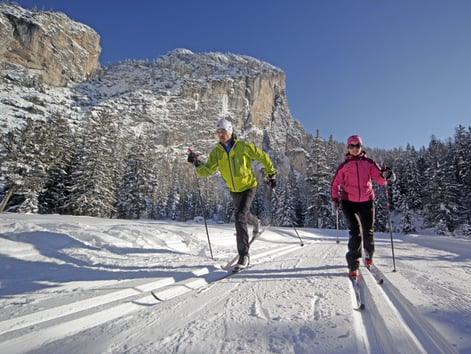 Cross-country skiing in Alta Badia