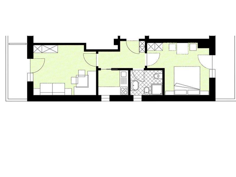 b per 2 - 4 persone - residence la villa (badia) - dolomiti